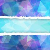 Abstract Colorful Triangle Polygonal torn paper Stock Images