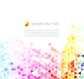 Abstract colorful triangles background. Stock Photos