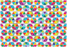 Abstract colorful triangles background. Color abstract background with symmetrical triangles combs isolated on white royalty free illustration