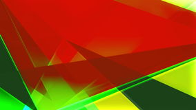 Abstract colorful triangles background loop stock video footage