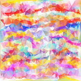 Abstract Colorful Triangles Background. Vector Stock Images