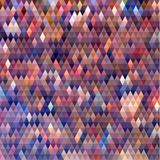 Colorful triangular background with pixelated effect Stock Images