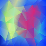 Abstract Colorful Triangles polygonal Background Stock Photography