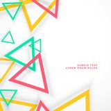 Abstract colorful triangles with shadow Stock Photography