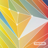 Abstract colorful triangles Stock Image