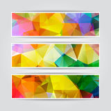 Abstract Colorful Triangular Header Set Royalty Free Stock Images