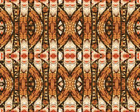 Abstract Colorful Tribal Pattern. Colorful unique tribal abstract geometric pattern in brown tones royalty free stock photography