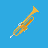 Abstract Colorful Trumpet Isolated On Color Background Royalty Free Stock Images