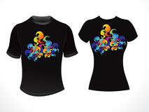 Abstract colorful tshirt template Stock Images