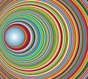Abstract colorful tunnel with circles Stock Photography
