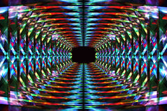 Abstract colorful tunnel vector illustration