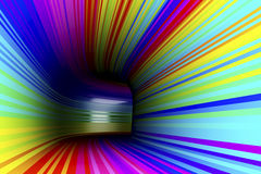 Abstract colorful tunnel Royalty Free Stock Photo