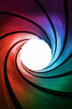 Abstract colorful tunnel Royalty Free Stock Images