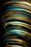 Abstract colorful twirl. Colorful lines from various light sources in motion Royalty Free Stock Photos
