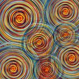 Abstract colorful twirl circles background Stock Photos