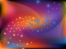 Abstract colorful twist shape and blinking dot Royalty Free Stock Image