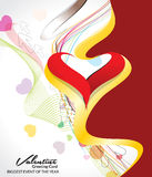 Abstract colorful valentine day background Royalty Free Stock Image