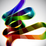 Abstract colorful vector. Colorful volume line with highlights stock illustration