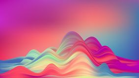 Abstract colorful vector background, color flow liquid wave. For design brochure, website, flyer. Stream fluid. Acrylic paint stock illustration