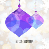 Abstract colorful vector bauble with winter background. Christma Stock Photo
