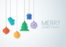 Abstract colorful vector baubles. Christmas or New Year backgrou Royalty Free Stock Photo