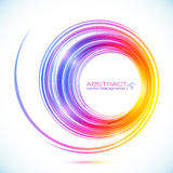 Abstract colorful vector circle frame Royalty Free Stock Image