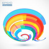 Abstract colorful vector curve Stock Photos