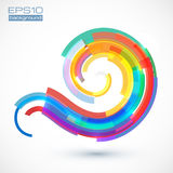 Abstract colorful vector curve Stock Photo