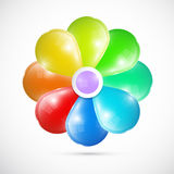 Abstract Colorful Vector 3d Flower Royalty Free Stock Image
