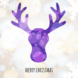 Abstract colorful vector deer head with winter background. Chris Stock Photos