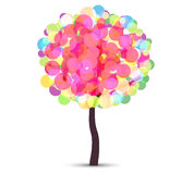 Abstract Colorful Vector Tree Stock Image