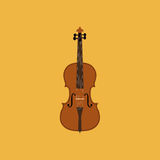 Abstract Colorful Violin Isolated On Color Background Stock Images
