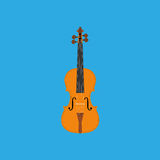Abstract Colorful Violin Isolated On Color Background Royalty Free Stock Photos
