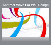 Abstract colorful wall wave background. Vector illustration stock illustration