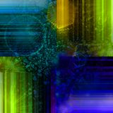 Abstract colorful wallpaper. With strips and figures Stock Photography
