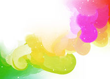 Abstract colorful water color for background. Stock Photos