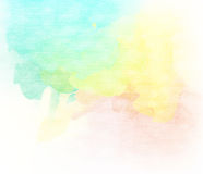 Abstract colorful water color for background. Stock Image