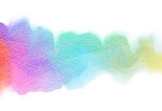 Abstract colorful watercolor. Stock Image