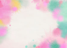 Abstract colorful watercolor background. Digital art painting Royalty Free Stock Photography