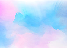Abstract colorful watercolor background. Digital art painting Stock Photography