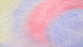 Abstract colorful watercolor for background stock image
