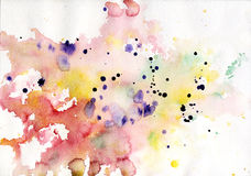 Abstract colorful watercolor background pink. Watercolor painting background. See my other works in portfolio Stock Photo