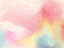 Abstract colorful watercolor for background. Royalty Free Stock Photos