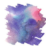 Abstract colorful watercolor background for your design. Blue color vector illustration