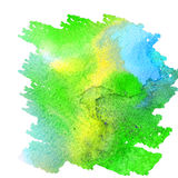 Abstract colorful watercolor background for your design. Green stock illustration