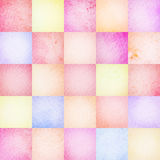 Abstract  colorful watercolor squares background Royalty Free Stock Photography