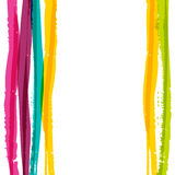 Abstract colorful watercolor stripe background. Vector illustrat Royalty Free Stock Images