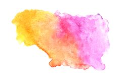 Abstract colorful watercolor on white background, Colorful watercolor splashing on the paper, Abstract painted illustration design stock images