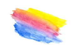 Abstract colorful watercolor on white background, Colorful watercolor splashing on the paper, Abstract painted illustration design royalty free stock images