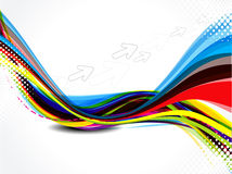 Abstract colorful wave with arrow Royalty Free Stock Images